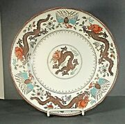 M And Co China Plate Chinese Dragon And Bird Marked/signed 1920and039s 10 ʱ K5