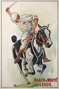 Polo Sport Black And White Leads Whisky Of 1920 Vintage Poster
