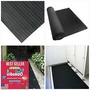 New Heavy Duty Composite Rib Corrugated Rubber Floor Mats+thick Roll Black+usa