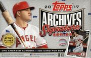 2017 Topps Archives Signature Series Baseball Hobby 20 Box Case Blowout Cards