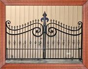 Wrought Iron Style Steel Driveway Entry Gate 11and039 Wd Home Residential Security