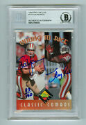 Steve Young Jerry Rice 1994 Pro Line Live Autograph Card 134 Beckett Authentic