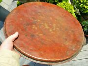 18 1/2 Copper Tray Antique Silver Wash Islamic Moroccan Vtg African Table Art