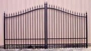 14and039 Driveway Gate Inc Steel Post Package Home Garden Outdoor Fence Residential