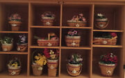 Longaberger All 14 May Minature Basket Combos With Flowers And Tie Ons