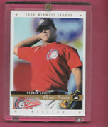 Albert Pujols 2000 Active Graphics Midwest League Peoria Chiefs Rookie Card