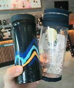 Starbucks 2020 China Summer Blue Mountains Bear 8oz Thermos Tumbler And Cover
