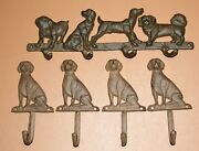 Gift For Dad Dog Design Wall Hooks / Rack All About Dogs -5 Items