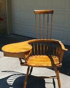 1800s Colonial Comb Back Chair Desk With Writing Arm - B And S Co