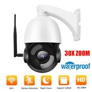 1080p 30x Zoom Wifi Ptz Security Camera Waterproof Night Vision Motion Detection