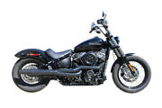 Thunderheader X Series High Pipe 2 Into 1 Black Exhaust System Harley Softail M8