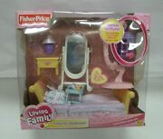 New Fisher Price Loving Family Dollhouse Parents' Bedroom 2003 Sweet Sounds Rare