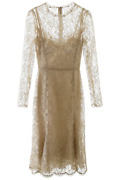 New Dolce And Gabbana Lace Midi Dress F6h1ht Hlm02 Oro Authentic Nwt