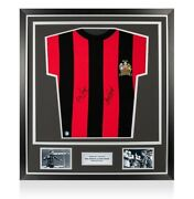 Framed Neil Young And Tony Book Signed Man City Shirt - Wembley 1969 Premium Frame
