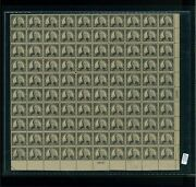 1925 United States Postage Stamp 623 Plate No. 18027 Mint Full Sheet