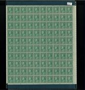 1923 United States Postage Stamp 581 Plate No. 16174 Mint Full Sheet