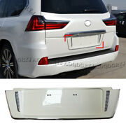 Pearl White License Plate Frames For Lexus Lx570 2016-2020 To Trd Style W/ Led