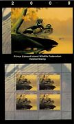 Pei 6m 2000 Wood Duck Conservation Stamp Mini Sheet Of 4 In Folder