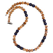 412.15ct Carving Gemstone Beaded Diamond Necklace 925 Sterling Silver Jewelry