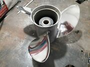 13 Dia. 19 Pitch Stainless For Omc Evinrude Johnson 75 To 140 Hp