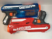 Nerf Mega Magnus Blasters Red And Ice Blue No Darts Free Shipping