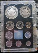 India 1974 Mint Proof Set Of 10 Coinswith Silver Coinrare