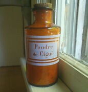 Poudre De Cigue Pontiled Amber French Apothecary Medicine Bottle From Louisiana