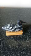 Vintage Hand Crafted Miniature Loon Decoy Water Bird