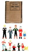 Marx 3111 Pmo Comic Figures Vintage Rare Complete Dick Tracy-orphan Annie