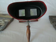 Antique Keystone View Co. Monarch Stereoscope Viewer, Also 73 Cards