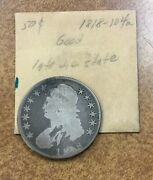 1818 Capped Bust Half Dollar 50c O-104a Only Good But Shows Die Crack At Top