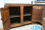 19th Century Rustic Country Primitive Colonial Style Hand Crafted Dry Sink