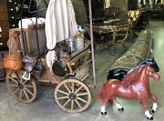 Exceptional Vintage Realistic Miniature Old West Chuck Wagon Handcrafted C1940