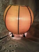 Round Material Shade Hand Sewn Cloth Table Accent Lamp Decoration Green Gold