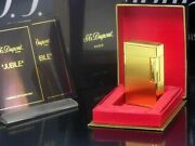 S.t.dupont Anniversary 50 Yellow Gold Limited Edition Jubile Oil Lighter