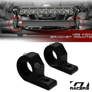 Texture Blk 1.25 Tube Bar Roll Cage Mount Bracket Clamps For Led Light Frc G29