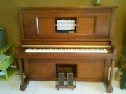 Waltham 1920and039s Upright Player Piano All Keys Working Very Good Condition