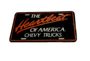 Classic Car License Plate The Heartbeat Of America Chevy Trucks 1282