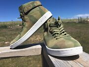 Nfn Gourmet Nove 2 Camo Lx High Top Sneakers Laced Up Shoes Size 9 Men's