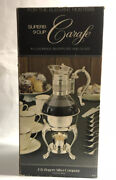 Vintage Fb Rogers Silver Co Glass Tea/coffee Warmer Carafe Pitcher Silverplated