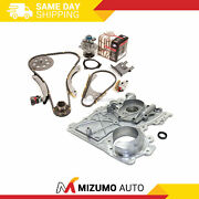 Timing Chain Kit Timing Cover Water Pump Fit 02-07 Chevrolet Gmc Hummer 3.5 4.2