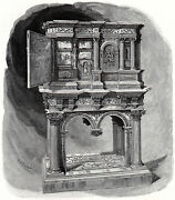 Pearwood And Marquetry Early Sixteenth Century 1886 Furniture Victorian Print