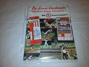 St Louis Cardinals 1968 World Series Game 2 Ticket And 1969 Souvenir Yearbook