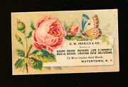 Victorian Trade Card G.w. Ingalls And Co. Shoes Trunks And Satchels Butter Fly