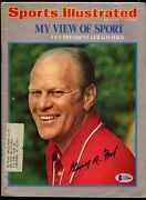 Gerald Ford Signed Autograph Auto July 1974 Sports Illustrated Magazine Bas Cert