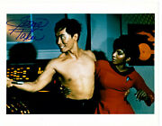 Autographed George Takei 8x10 Color Press Photo From Star Trek Tos