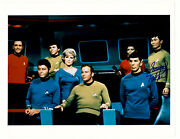 Autographed George Takei 8x10 Color Cast Photo From Star Trek Tos