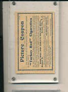1911 Turkey Red T3 Picture Coupon Card Baseball Ex