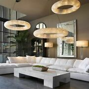 Indoor Lighting Crystals Chandelier Chrome Led E14 Luxury Round Ring Chandelier
