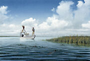 Night Fishing By John Dearman Giclee Print Speckled Trout At Night Texasgulf